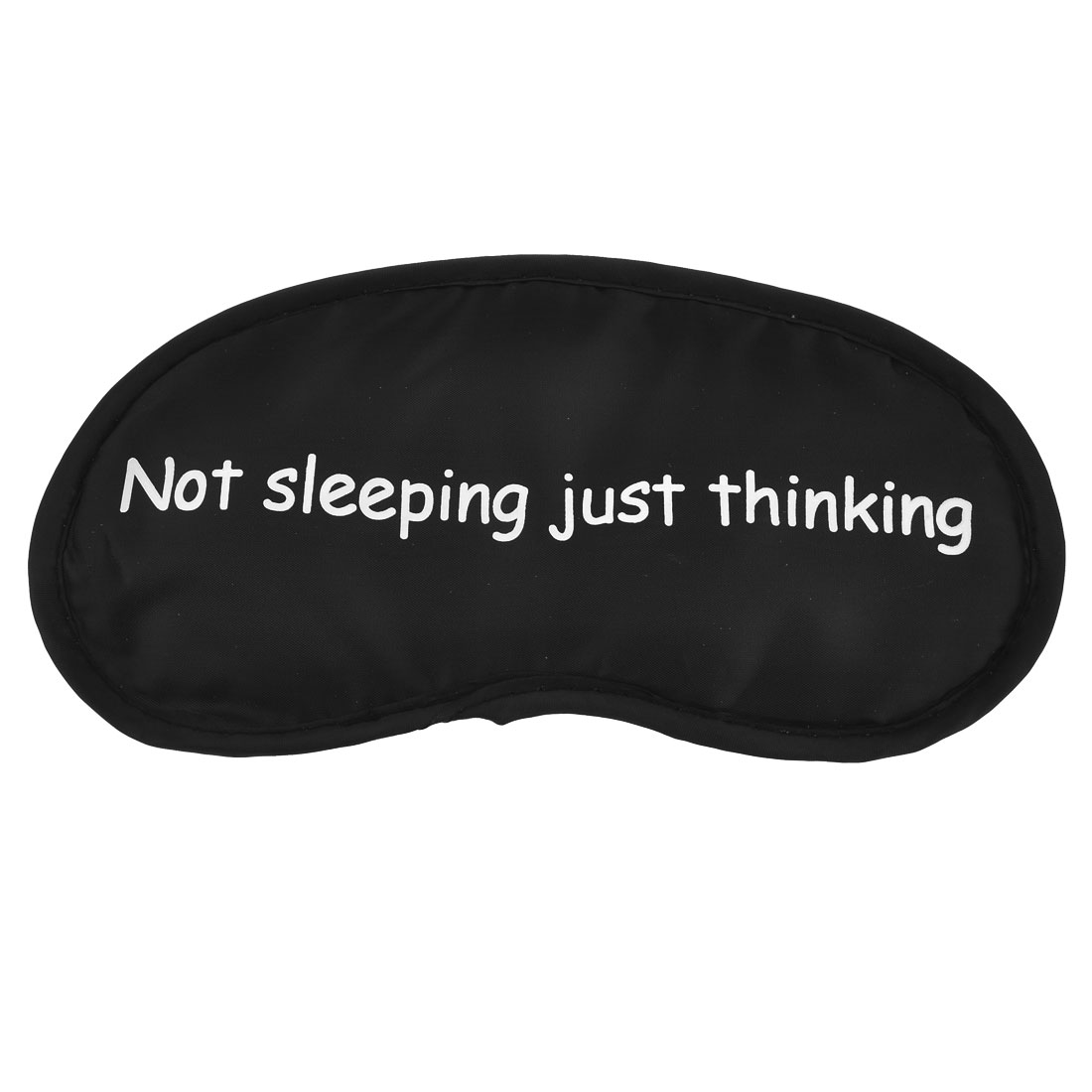 Travel Sleep Blindfold Letters Printed Elastic Band Eyepatch Eye Mask Black White