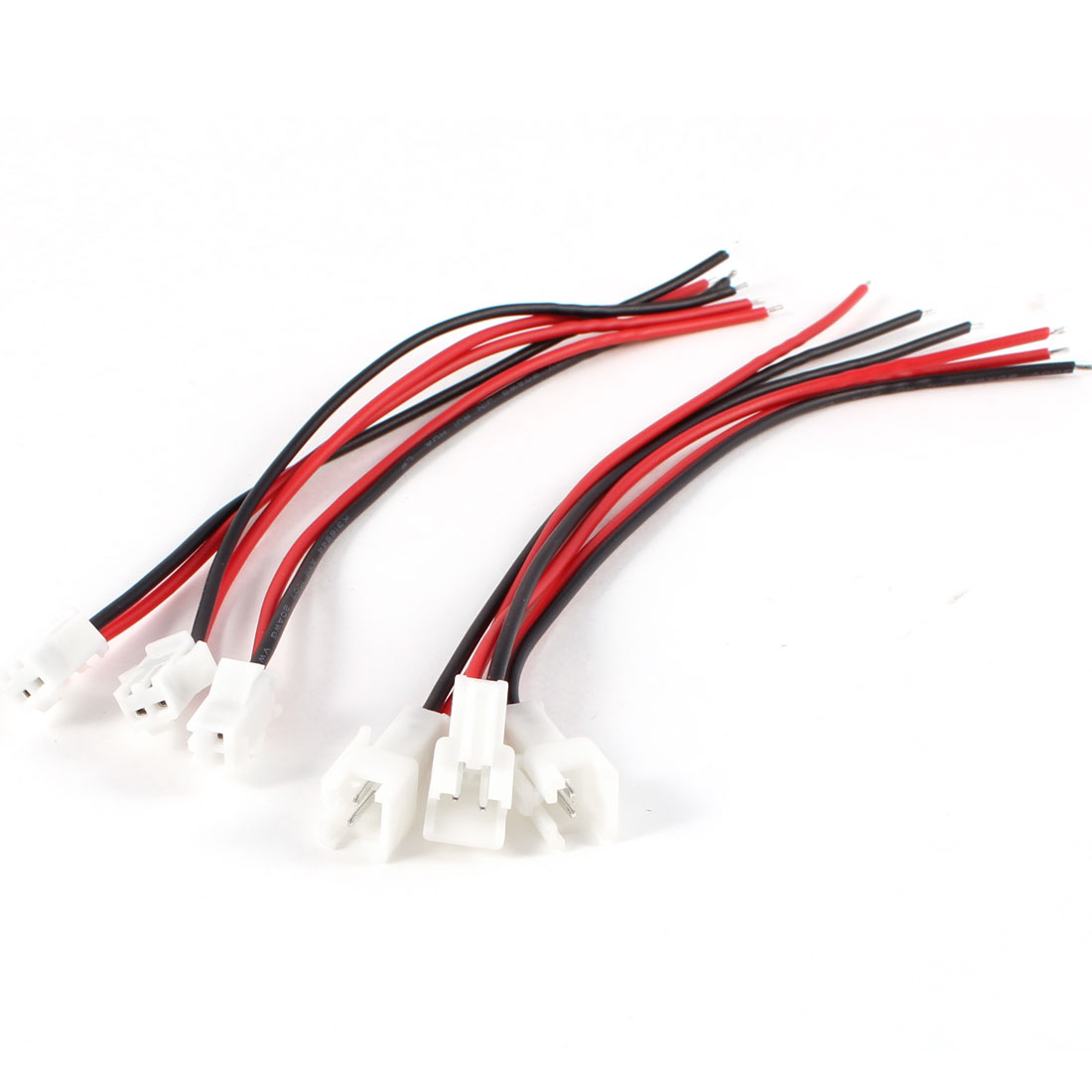 3 Pcs Neon Glow EL Wire Cable 2 Terminal Connector Female + Male Black Red internal