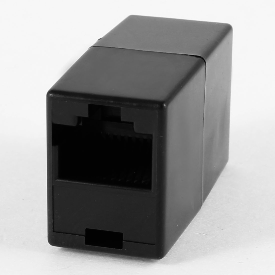 Black Plastic Housing RJ45 8P8C Female to Female Ethernet Connector Coupler