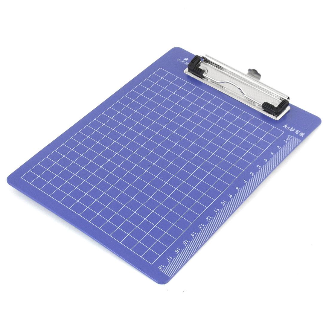 Office A5 File Record List Note Paper Blue Plastic Clip Board