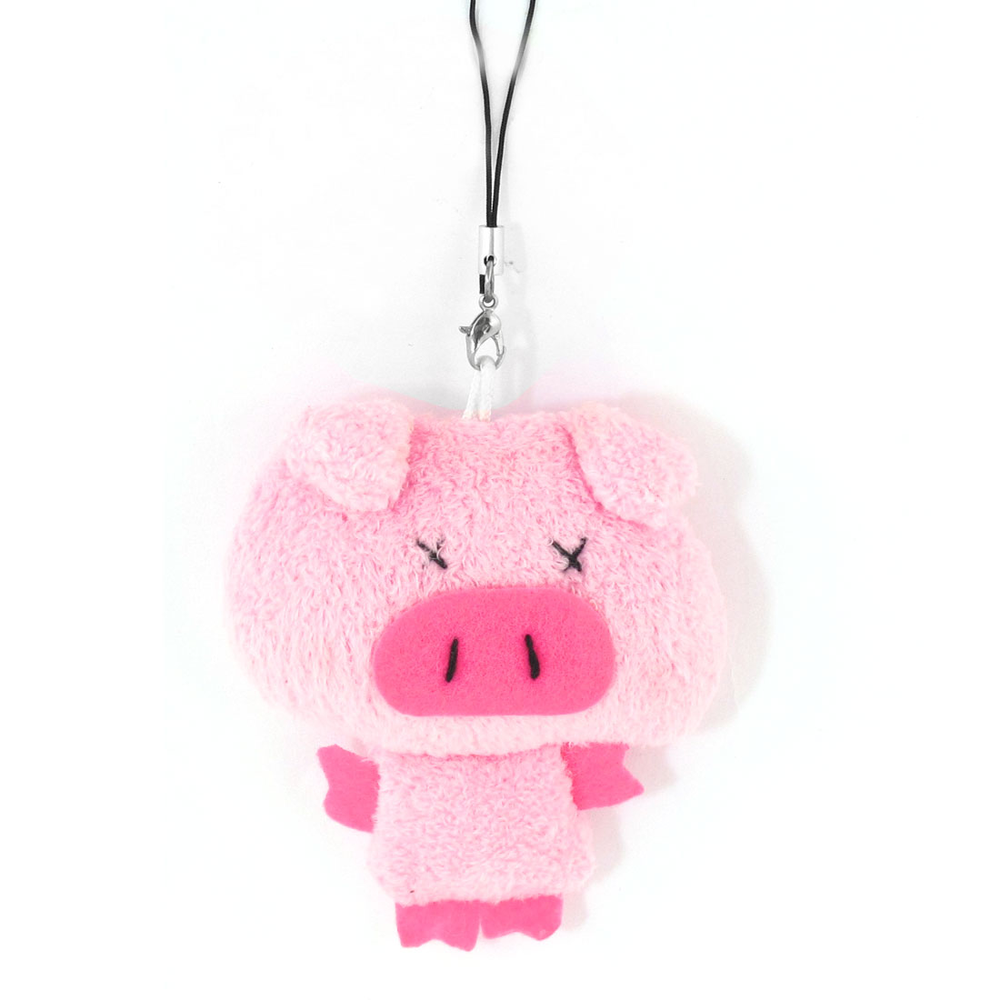 Pink Soft Fleece Pig Designed Pendant Cell Phone Strap for Lovers