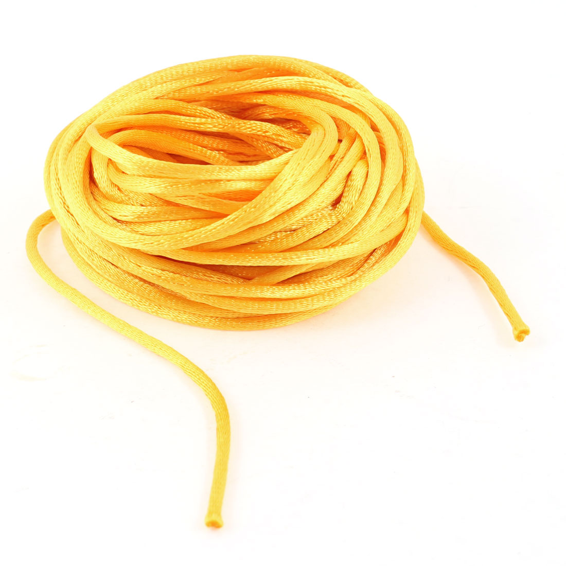 Gold Tone Braided Thread Nylon Handwork Chinese Knot Rat Tail Cord 8.2M
