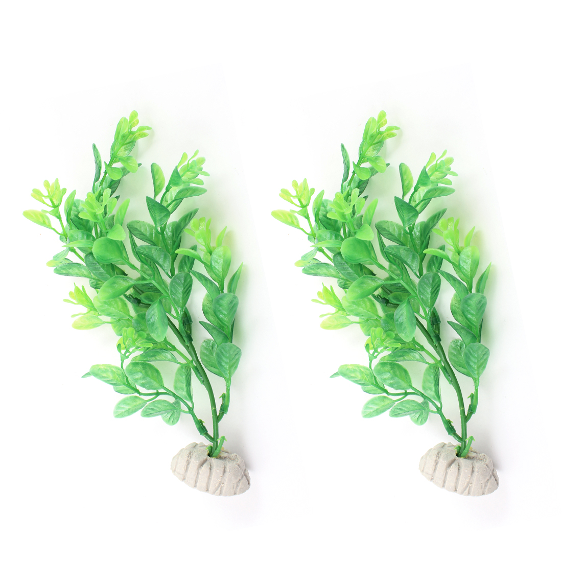 "2 Pcs 8.5"" Height Green Artificial Aquatic Plant for Aquarium"