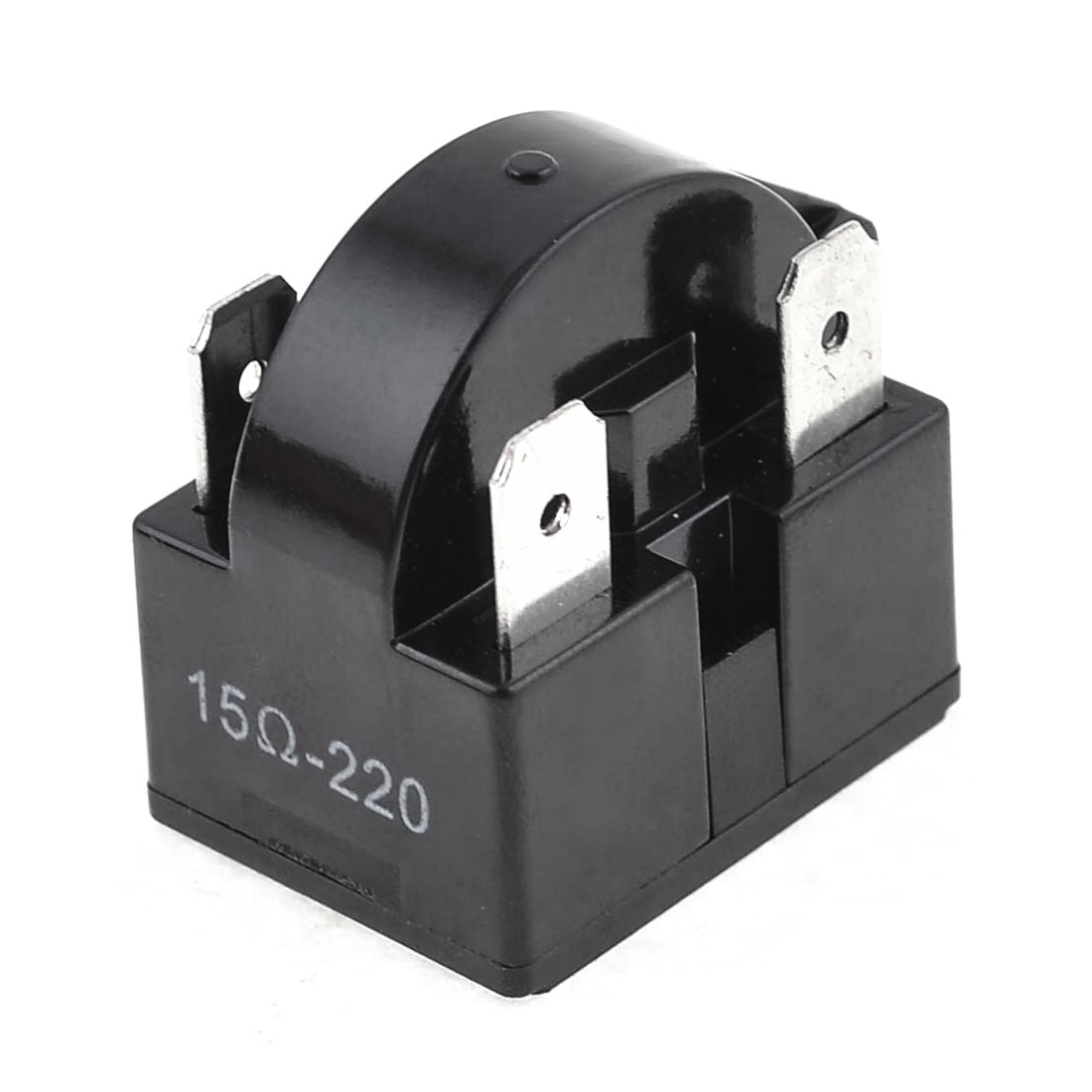 Black Plastic Housing 15 Ohm 4 Pins Refrigerator PTC Starter Relay