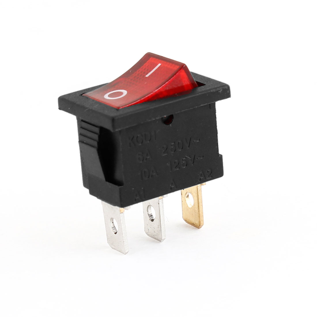 Red Indicating Light 3 Pins ON-OFF Type Car Auto Rocker Switch