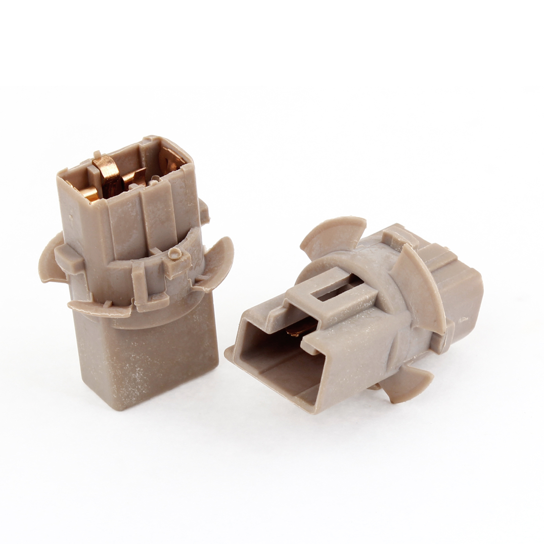 2pcs Brown Plastic Brake Turn Light Socket Connector T20 for Car