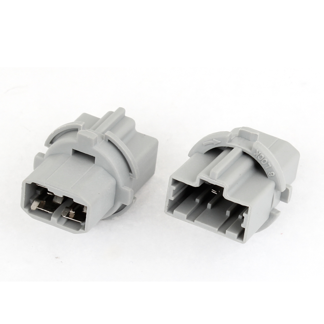 2 x T20 Gray Plastic Turn Brake Turning Light Socket for Car