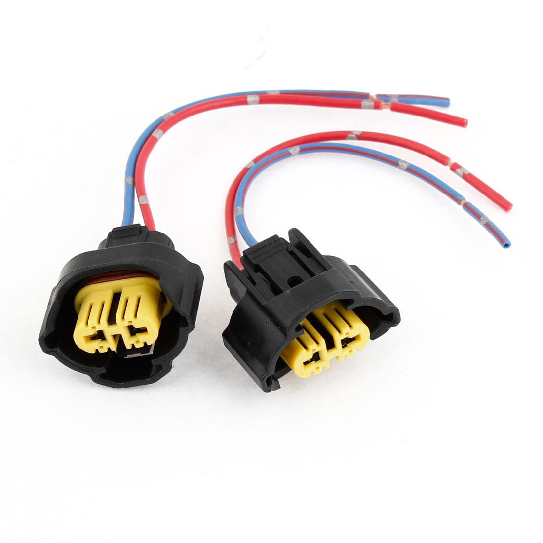 2 x H9 Plastic Fog Light Headlamp Pre-wired Socket for Car