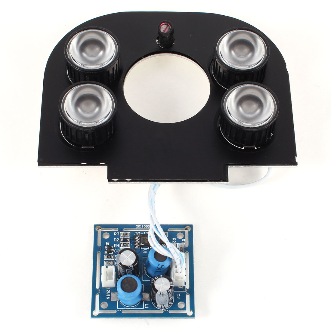 CCTV Security Camera 90 Degree 4mm Lens Red 4-LED IR Infrared Board Plate