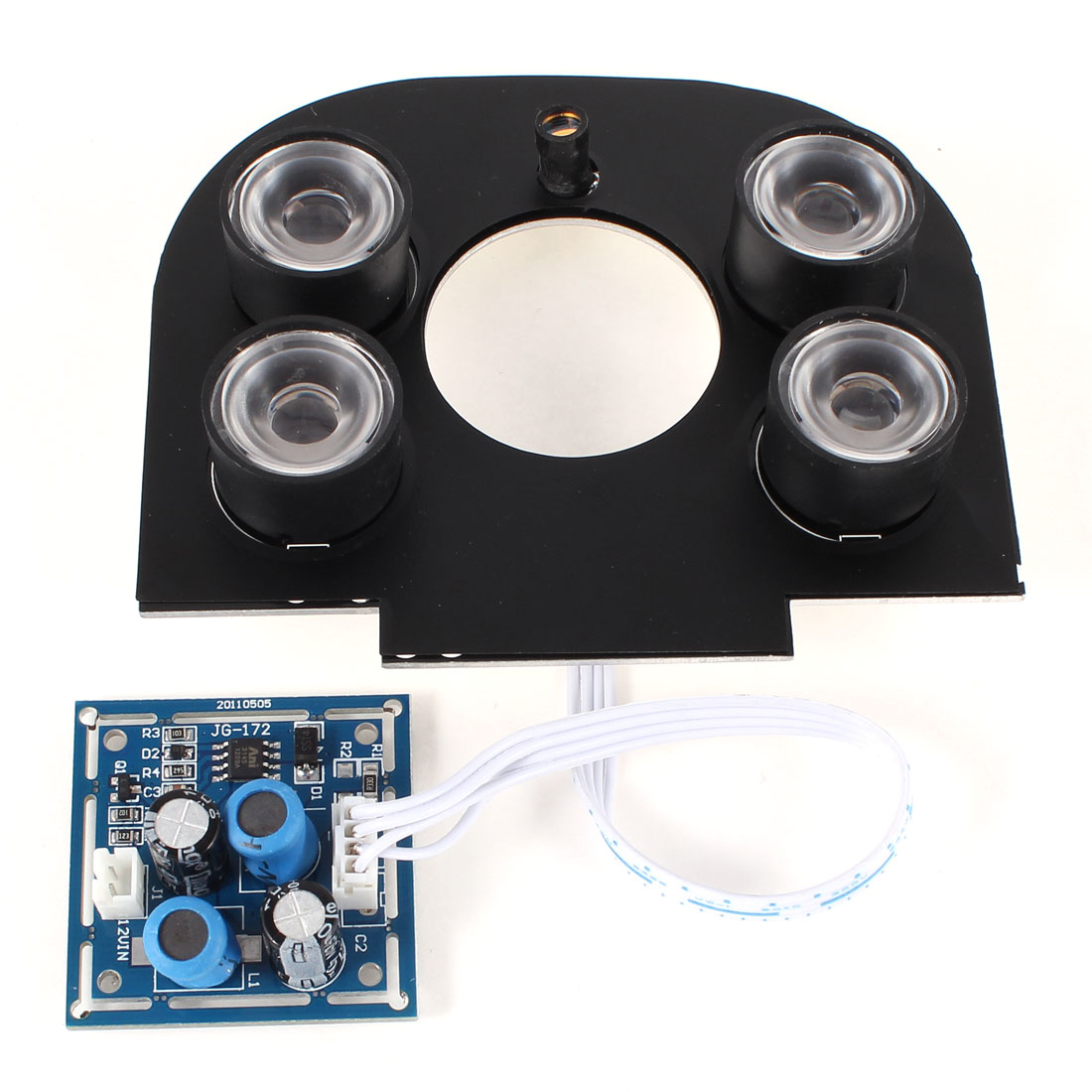 CCTV Security Camera 60 Degree 6mm Lens Red 4-LED IR Infrared Board Plate