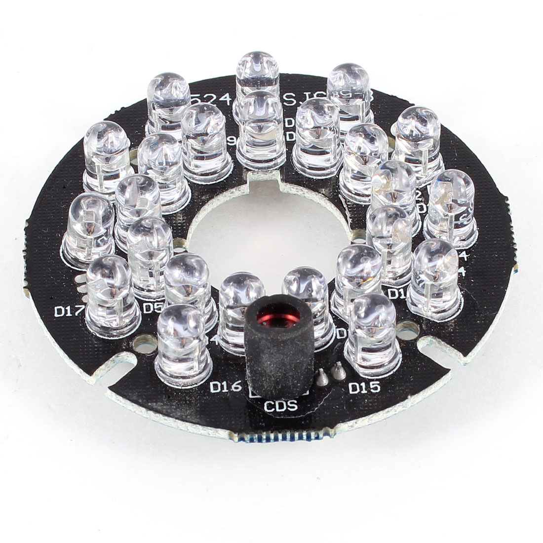 CCTV Security Camera 45 Degree Red 24 LEDs Round IR Infrared Board Plate
