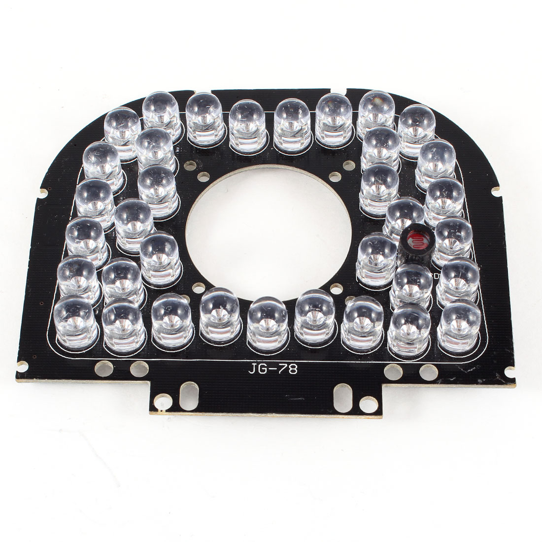 CCTV Security Camera 90 Degree 4mm Lens Red 35 LEDs IR Infrared Board Plate