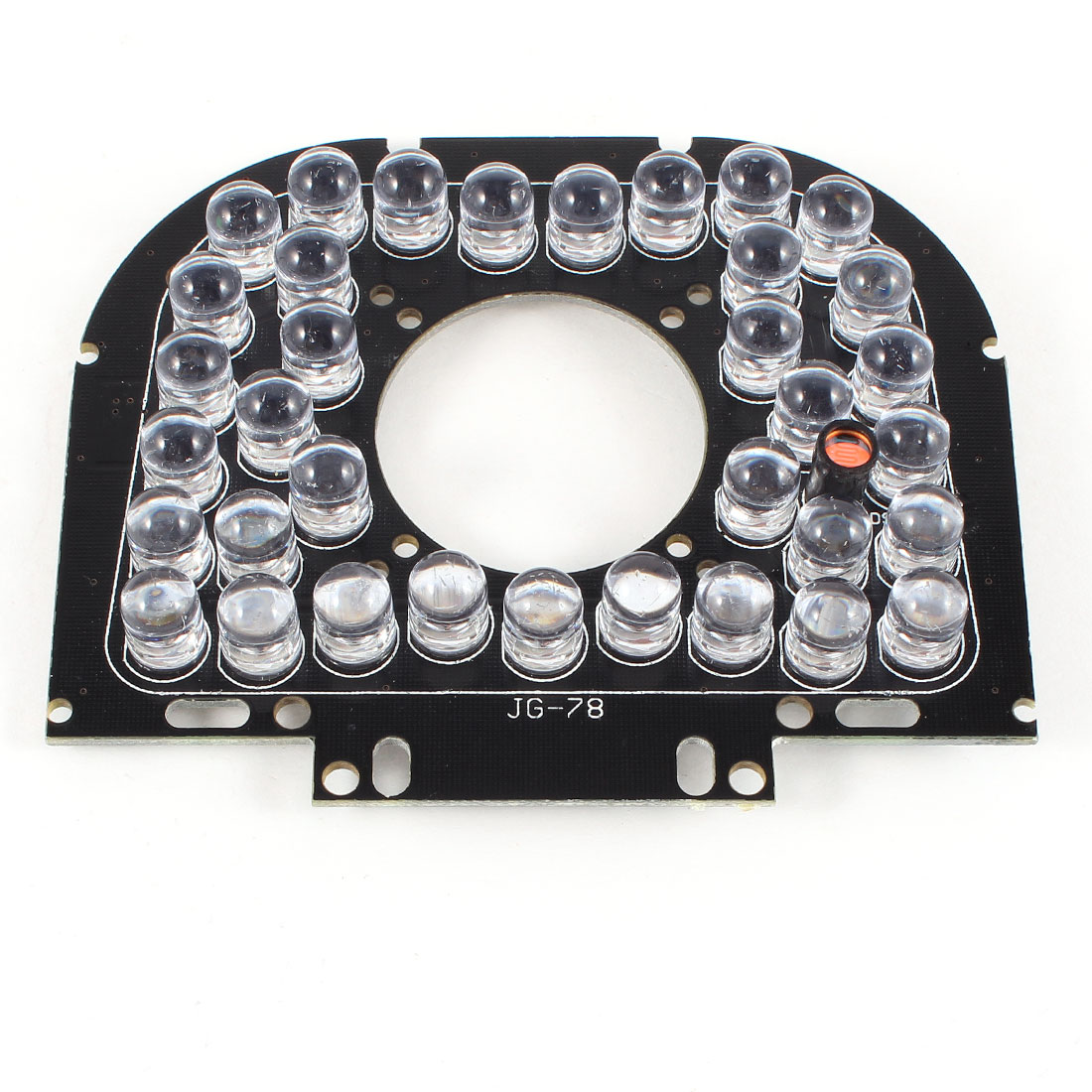CCTV Security Camera 30 Degree 12mm Lens Red 35 LEDs IR Infrared Board Plate