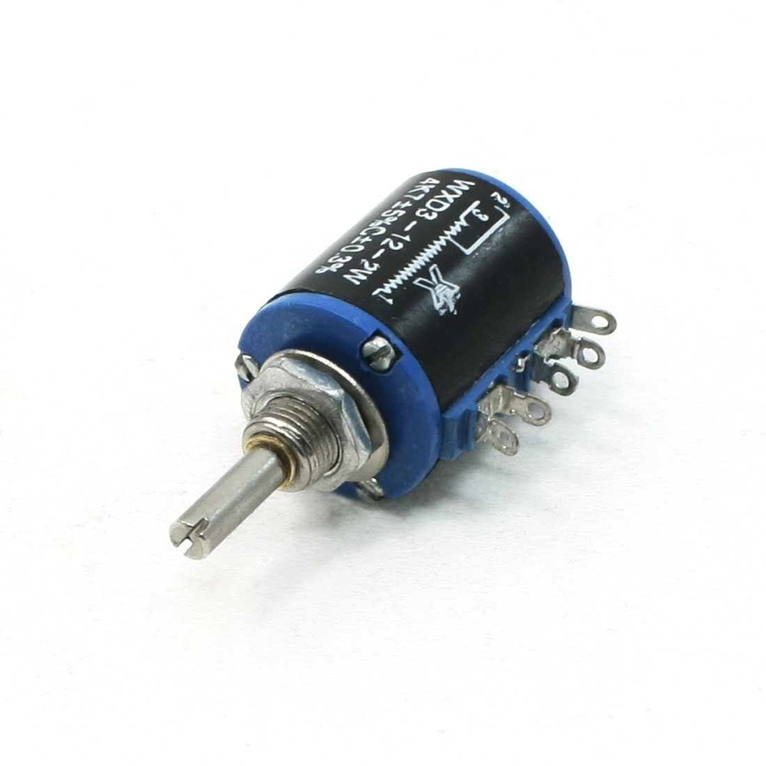 Multiturn Type 5 Pin Terminals Wire Wound Potentiometer 2W 4.7K Ohm