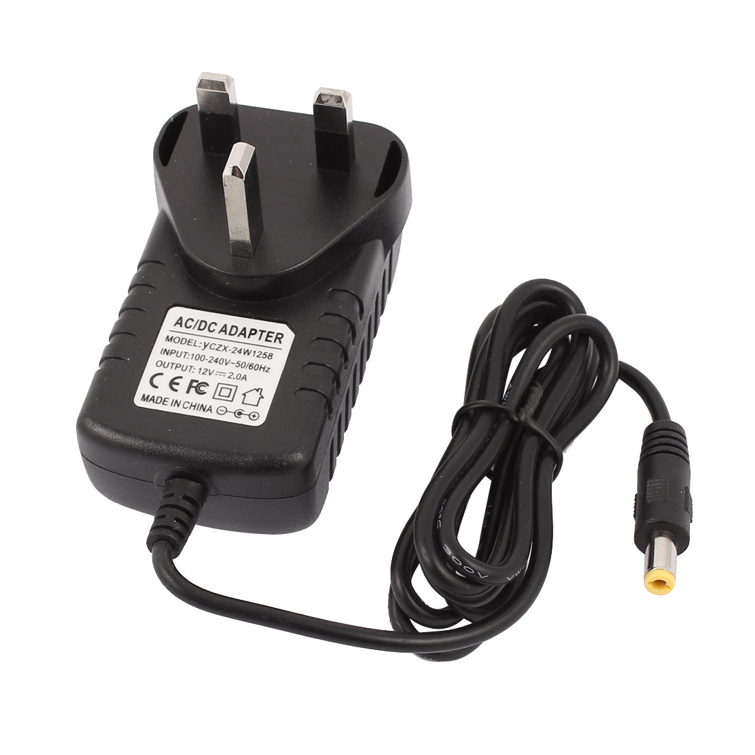 100-240V to 12V 2A AC/DC Power Supply Adapter Cord Charger 5.5x2.1mm UK Plug