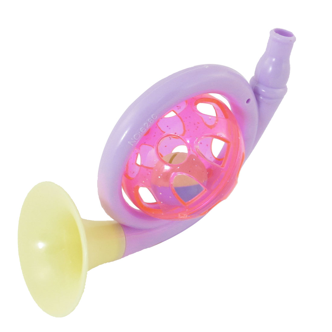 Hand Shaking Horn Shaped Shakers Rattle Trumpet Toy Purple Yellow Pink for Baby