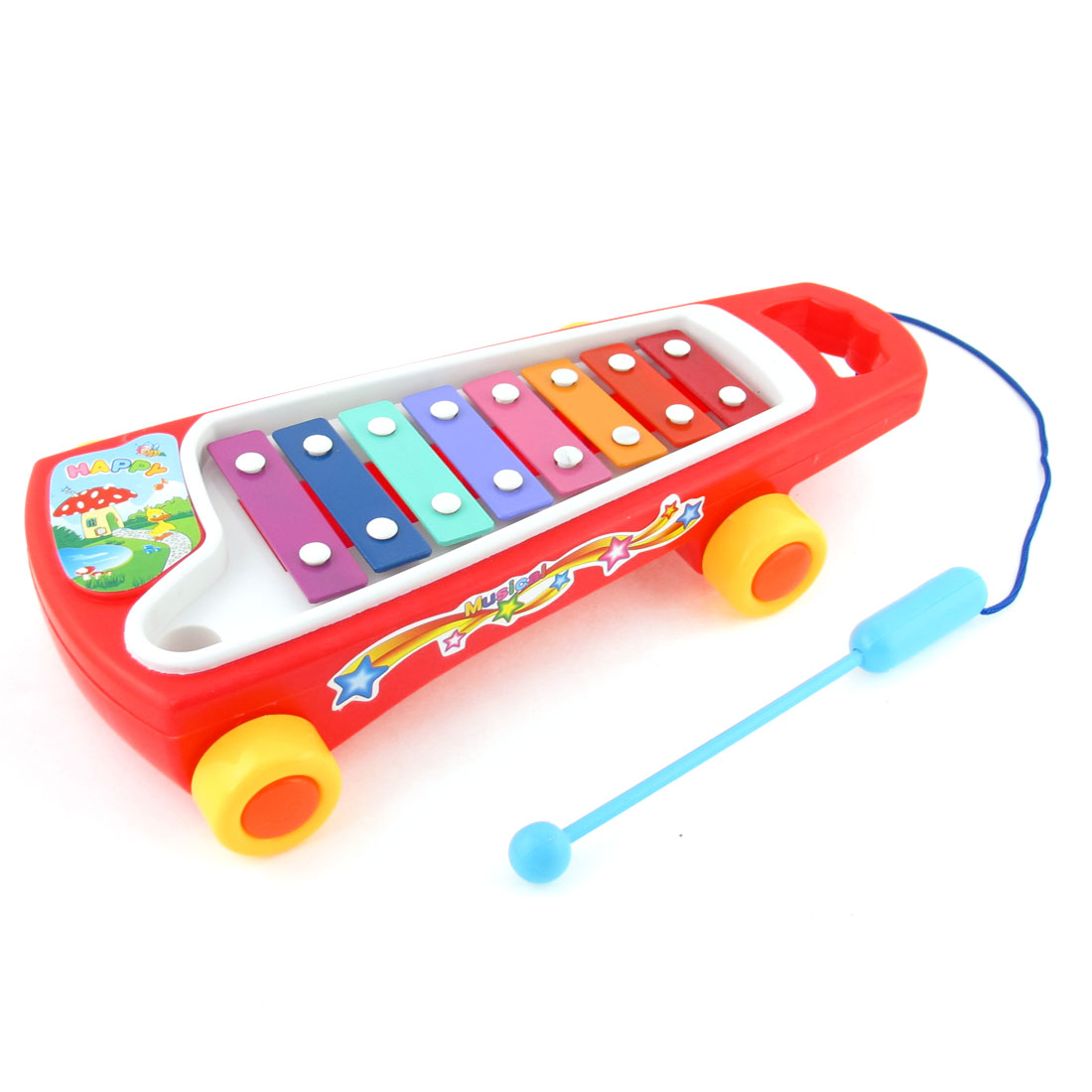 Baby Knocked Serinette Tow Truck Music Maker Musical Instrument Gift