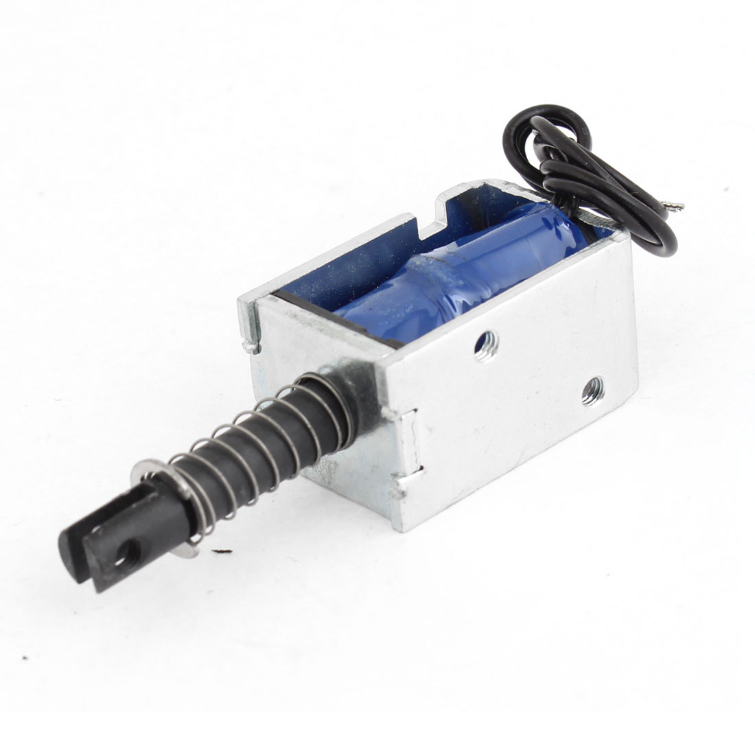 12VDC 300mA Open Frame Solenoid Electromagnet w Spring Plunger JF-0730B