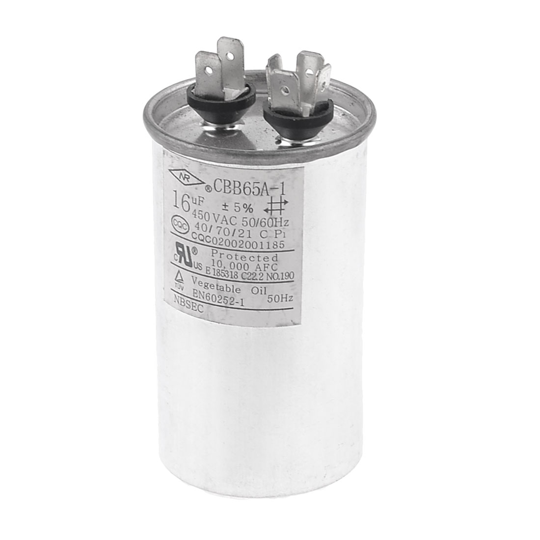 CBB65A-1 16uF AC 450V Motor Capacitor for Air Conditioner Engine