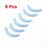 6 Pcs Replaceable Blue Rubber Pad Cushion for Eyelash Curler