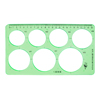 Clear Light Green Plastic Hollow Out Drawing Learning Template Ruler