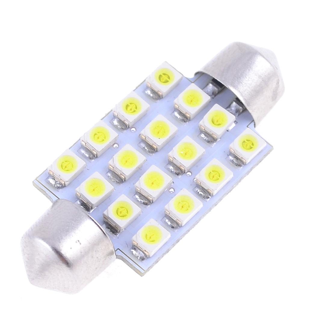 Car 31mm White 3528 1210 16 SMD LED Festoon Dome Light Lamp