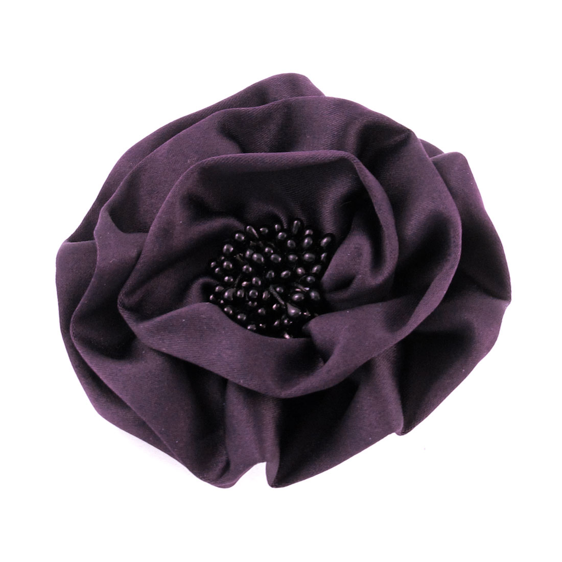 Parties Wedding Purple Polyester Flower Pin Brooch for Ladies