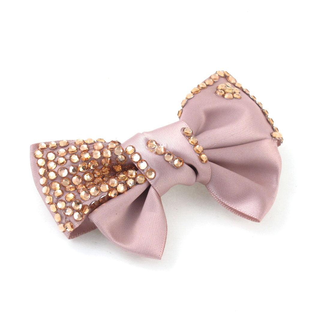 "3.9"" Length Rosybrown Polyester Bowknot Accent Hair Clip Alligator for Women"