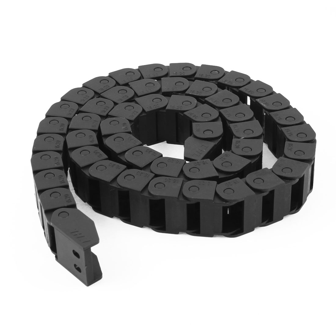 Machine Tool 1 Meter 3.3Ft Length Plastic Cable Drag Chain 15mm x 20mm