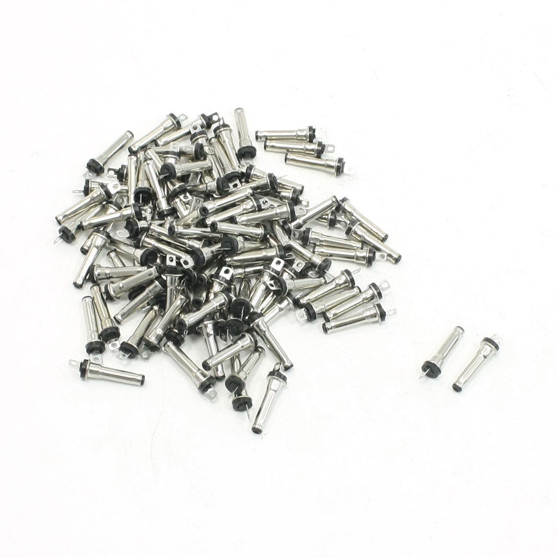 100Pcs DC Power Jack Solder Male Connector 2.0mmx0.6mm Type 13.2mm Long