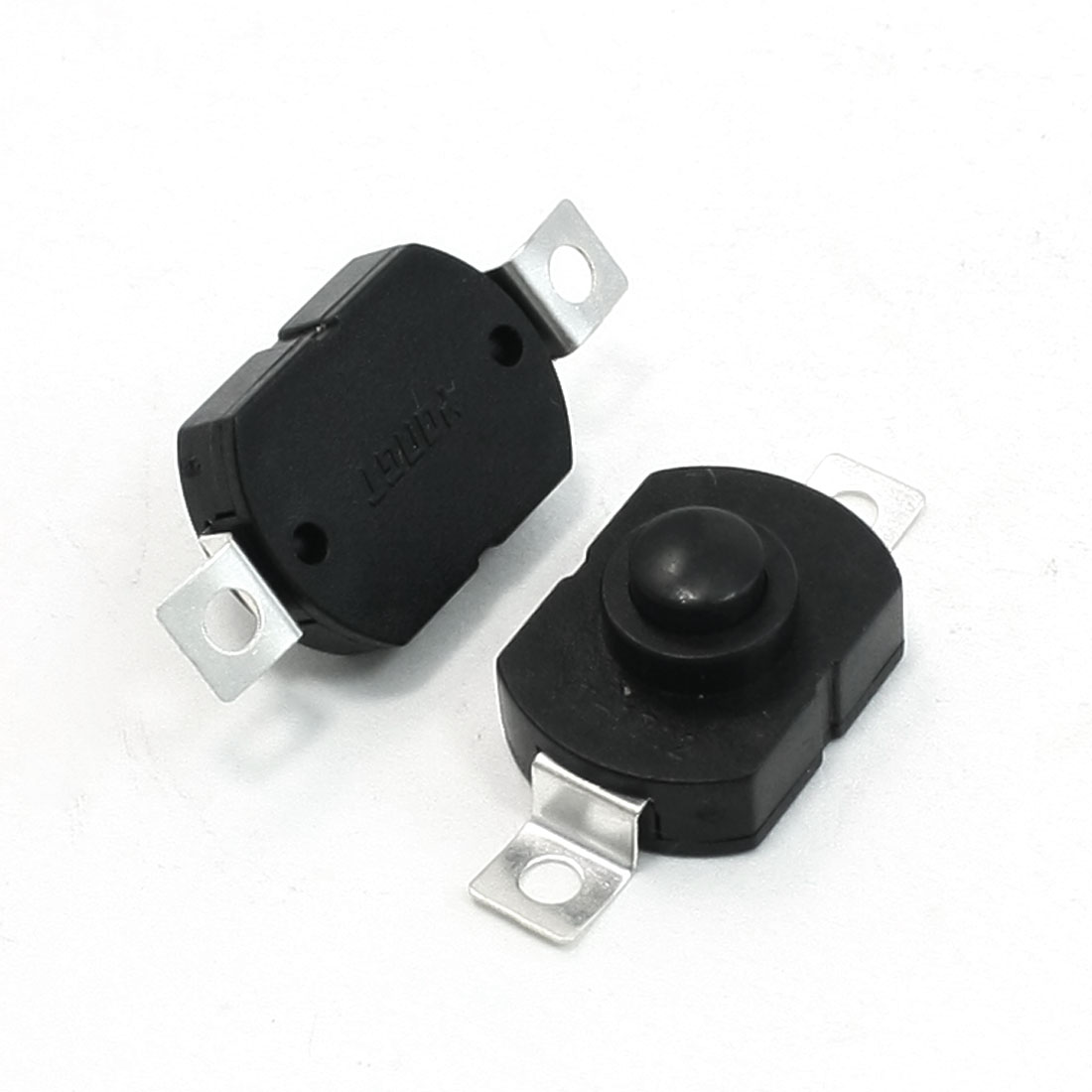 2 Pcs Latching ON/OFF Push Button Switch AC 250V 1.5A for Electric Torch