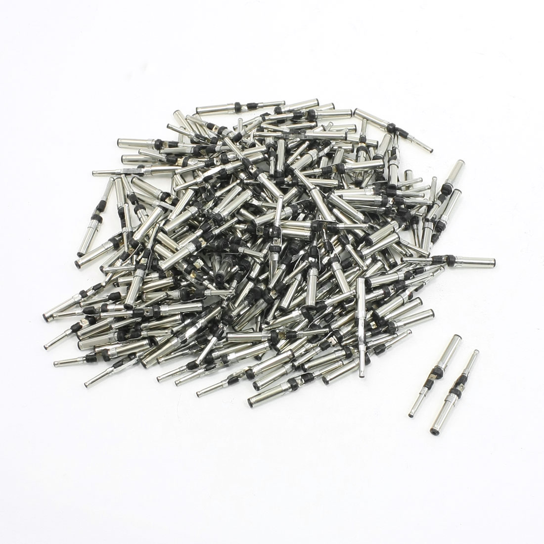 200 Pcs DC Power Supply Jack Soldered Male Connector 3.5mm to 2.0mm