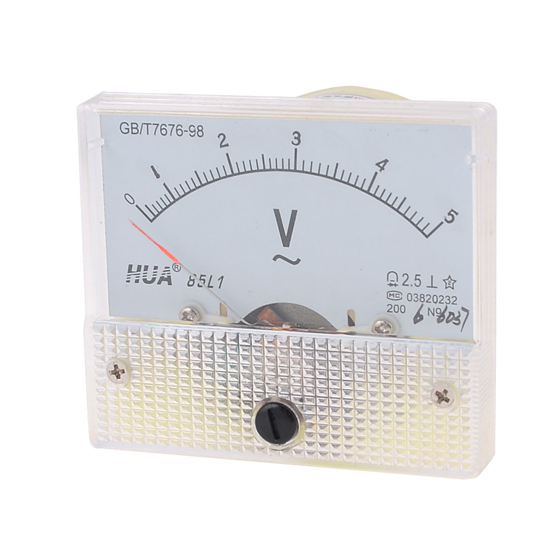 85L1 AC 0-5V Voltmeter Voltage Panel Meter w Installing Parts