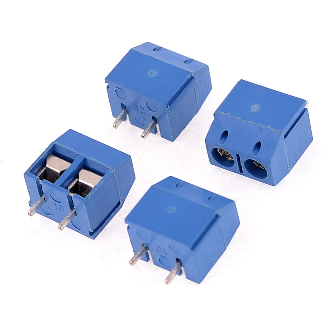 4 Pcs 5mm Pitch PCB Screw Teminal Blocks Connectors AC 250V 10A