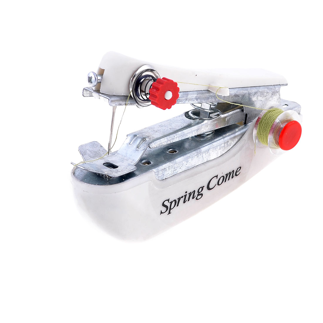 Family White Coated Handy Stitching Portable Handheld Sewing Machine