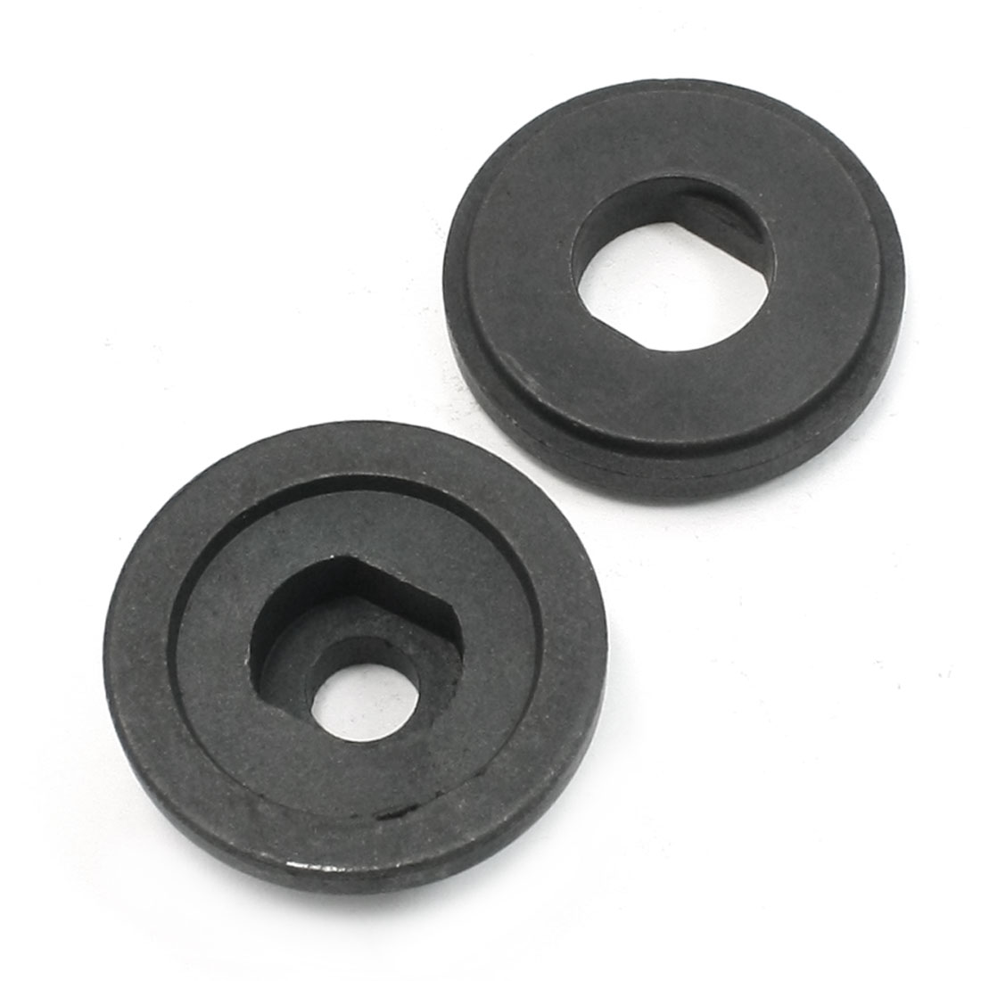 2 Pcs Replacement Round Clamp Inner Outer Flange Black for Hitachi 100