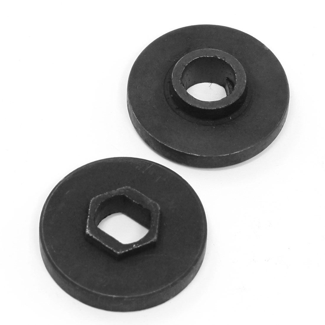 2 Pcs Repairing Part Inner Outer Flange Black 46 x 13mm 46 x 10mm