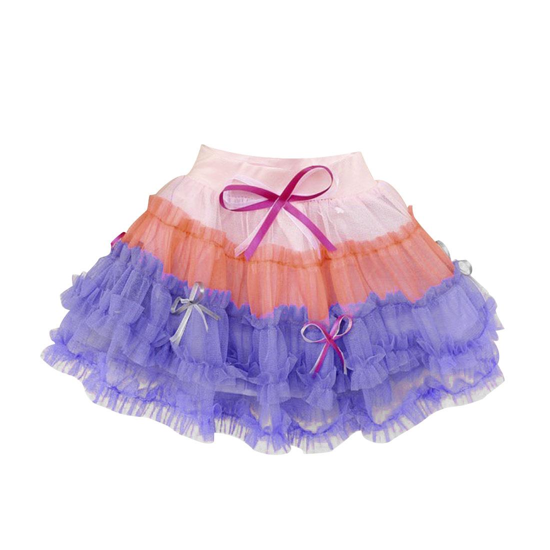 Summer Elegant Tri Color Meshy Hem Pleated Design 0-3 Month Girls Newborn Skirt