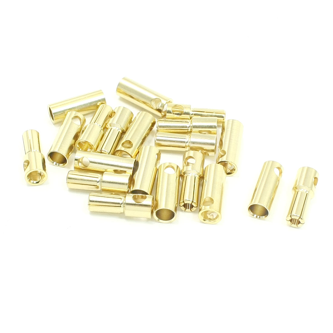 10 Pairs Gold Tone Metal 5.5mm Dia Banana Cone Plug Connectors