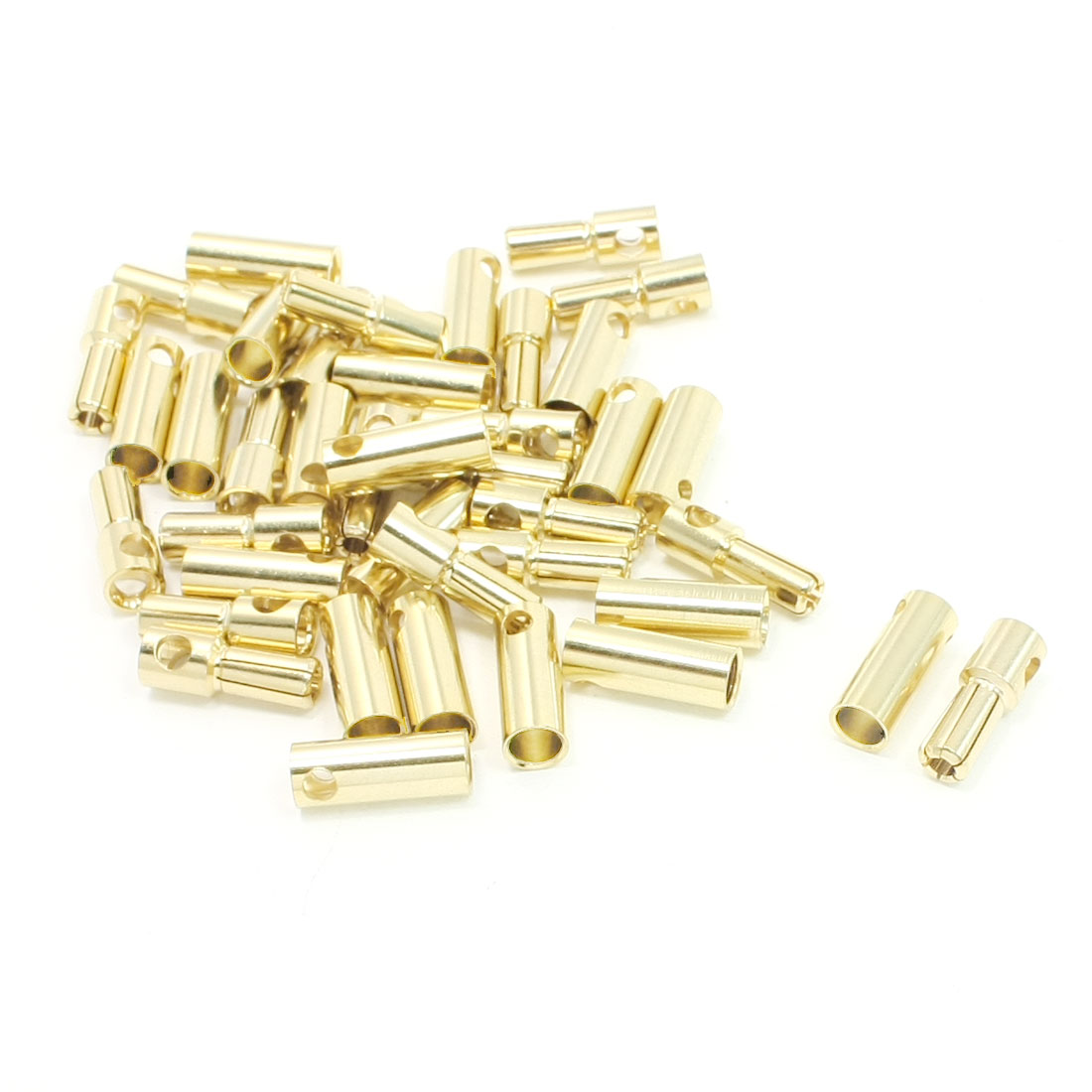20 Pairs Gold Tone Metal Audio Video Terminal Female Male Connectors 5.5mm Dia