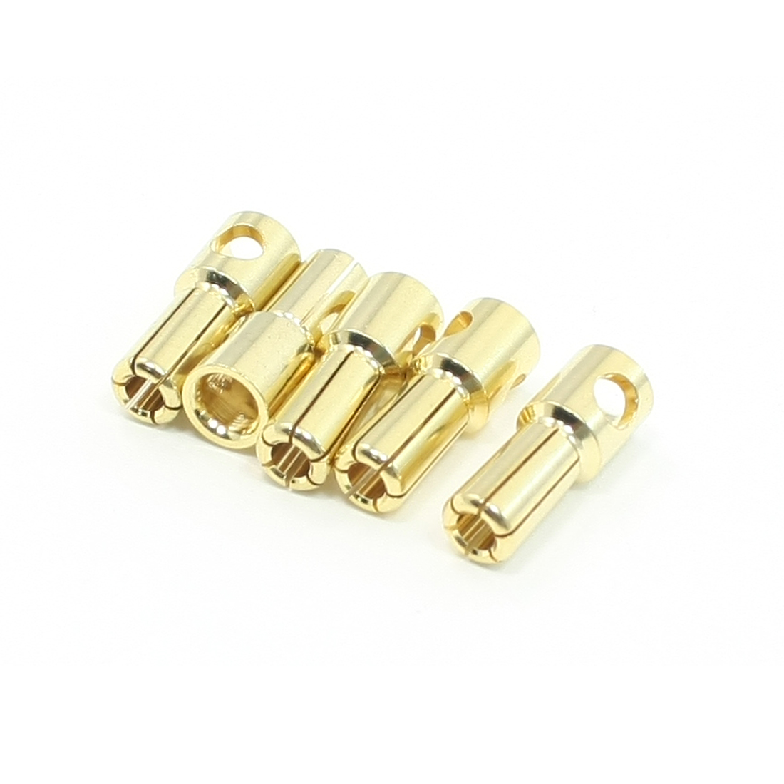 5 Pcs RC Model Li-Po Battery Male Banana Cone Connector Plug 5.5mm
