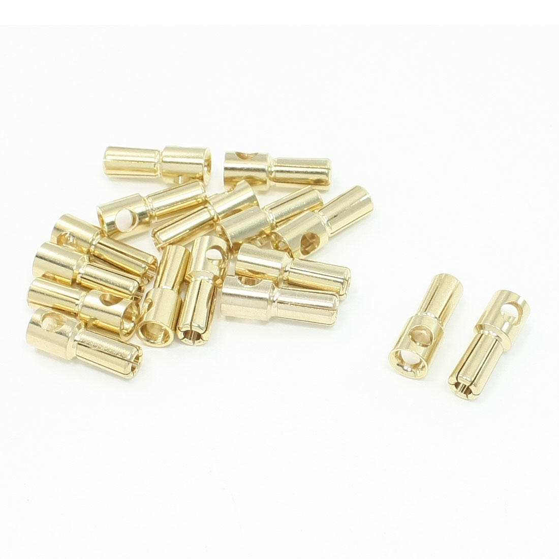 5.5mm Inside Dia Male Banana Plug Cone Connector Replacement 20 Pcs