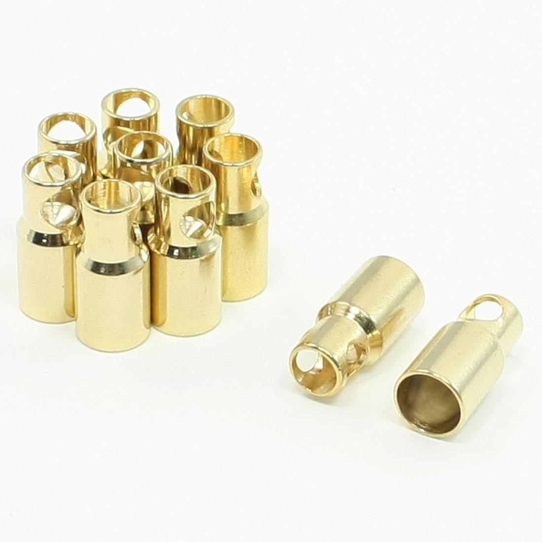 10 Pcs Female Bullet Connector Plug Repair Part 6mm for RC DIY