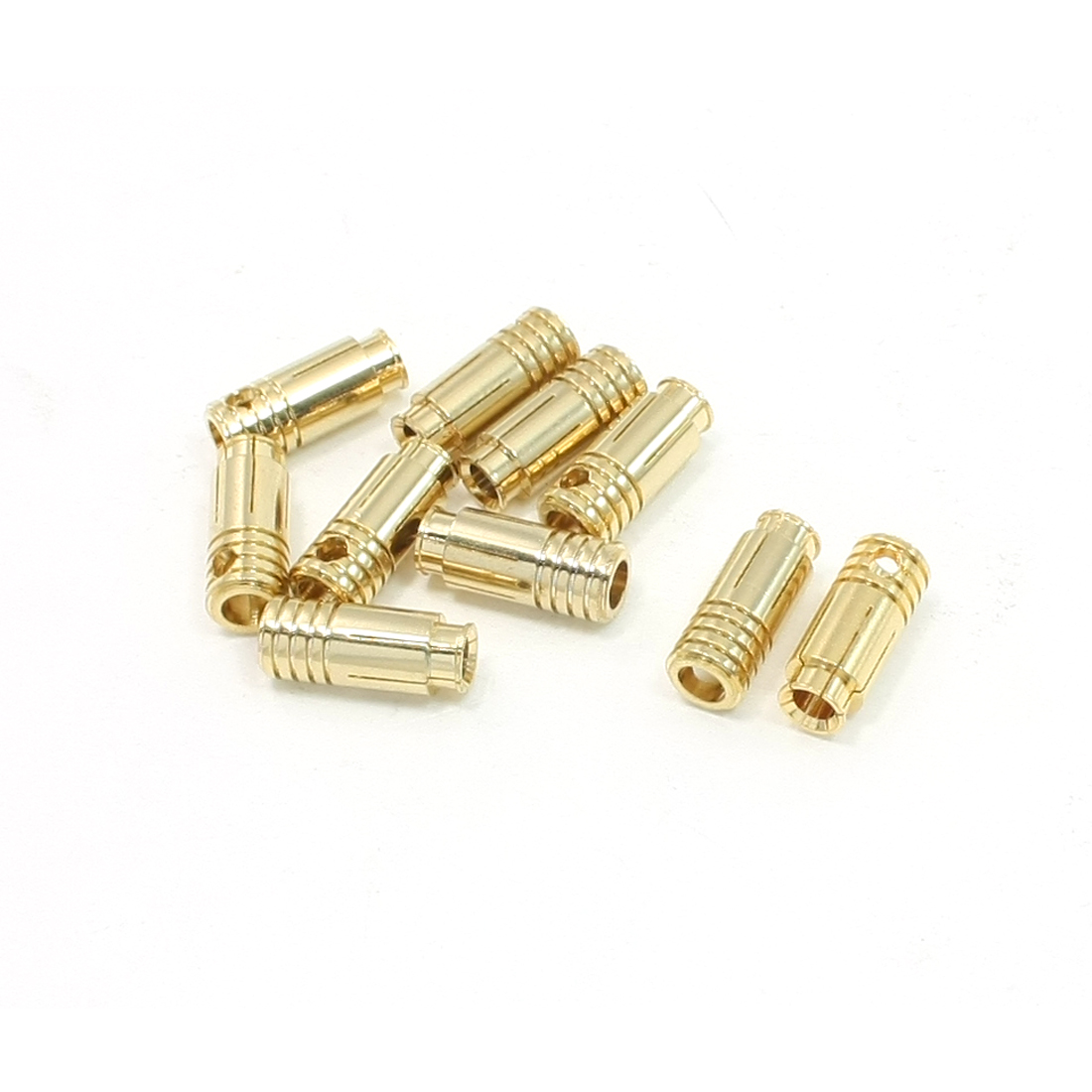 10 Pcs Gold Tone Metal RC 6.5mm Banana Bullet Connecting Connectors