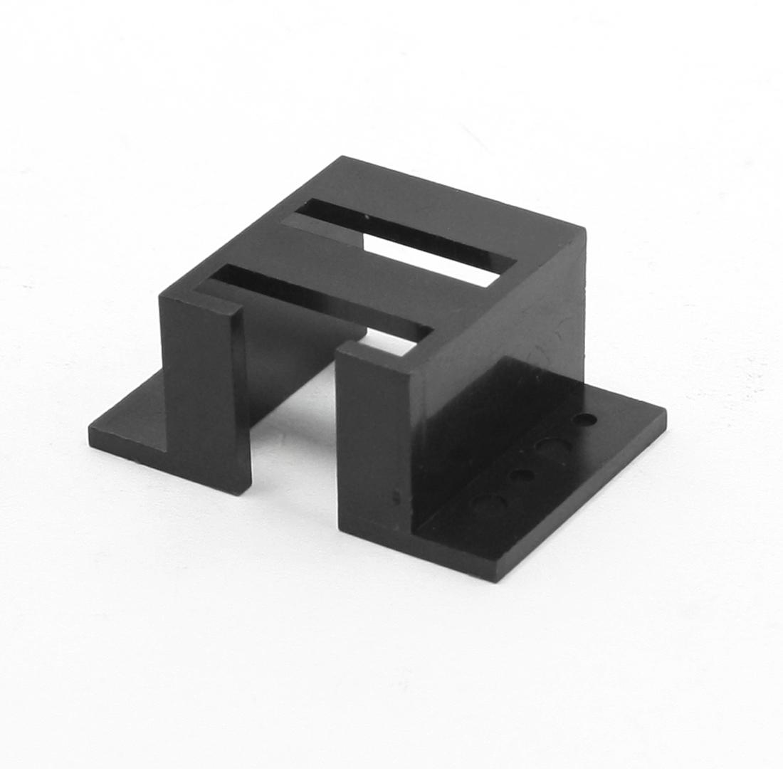 Black Plastic Mount Hole Dia 2.5mm 1.5mm Robot Model Bracket