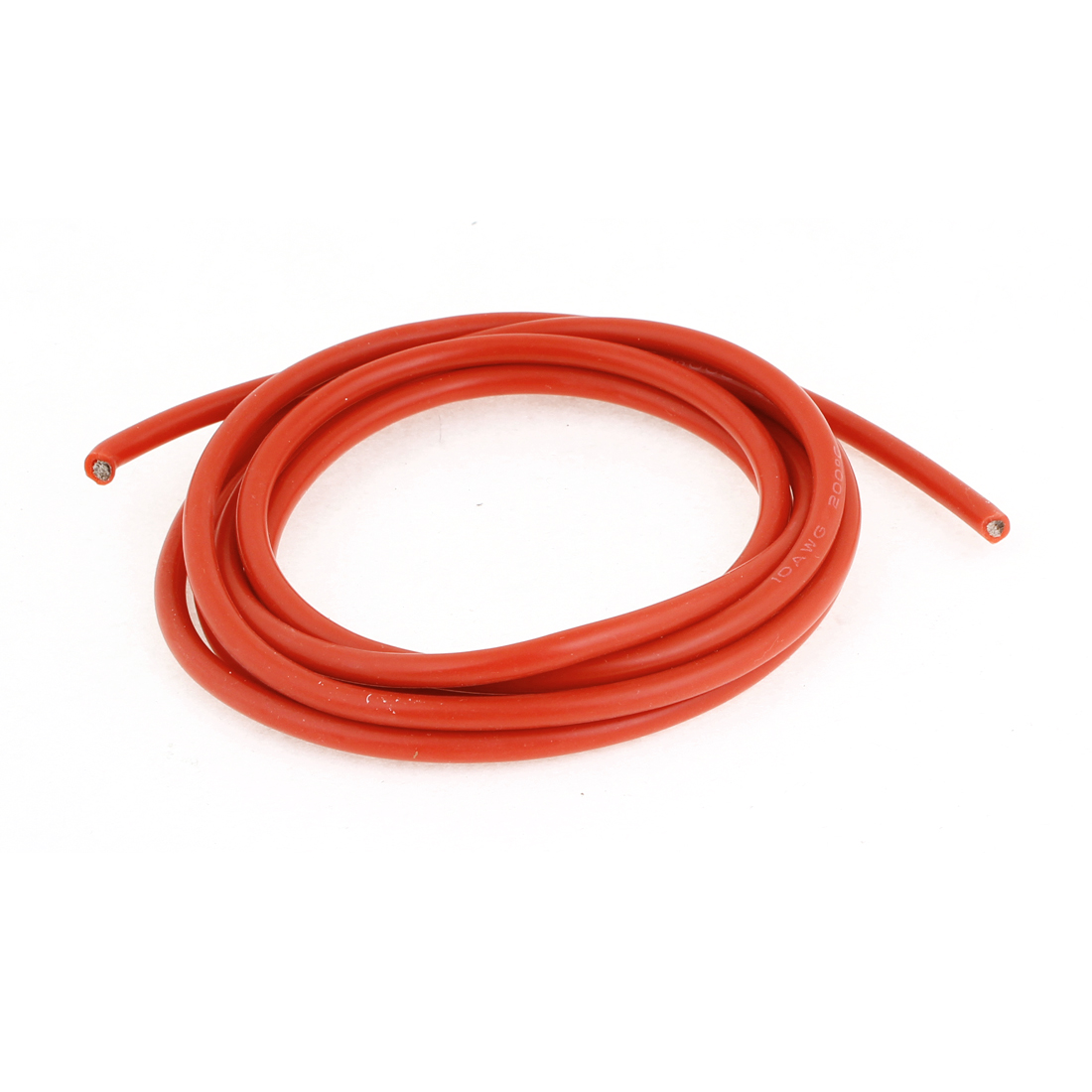 Electric Equip Part 10# Silicone Resin Cover Copper Core Red Wire 78.7""