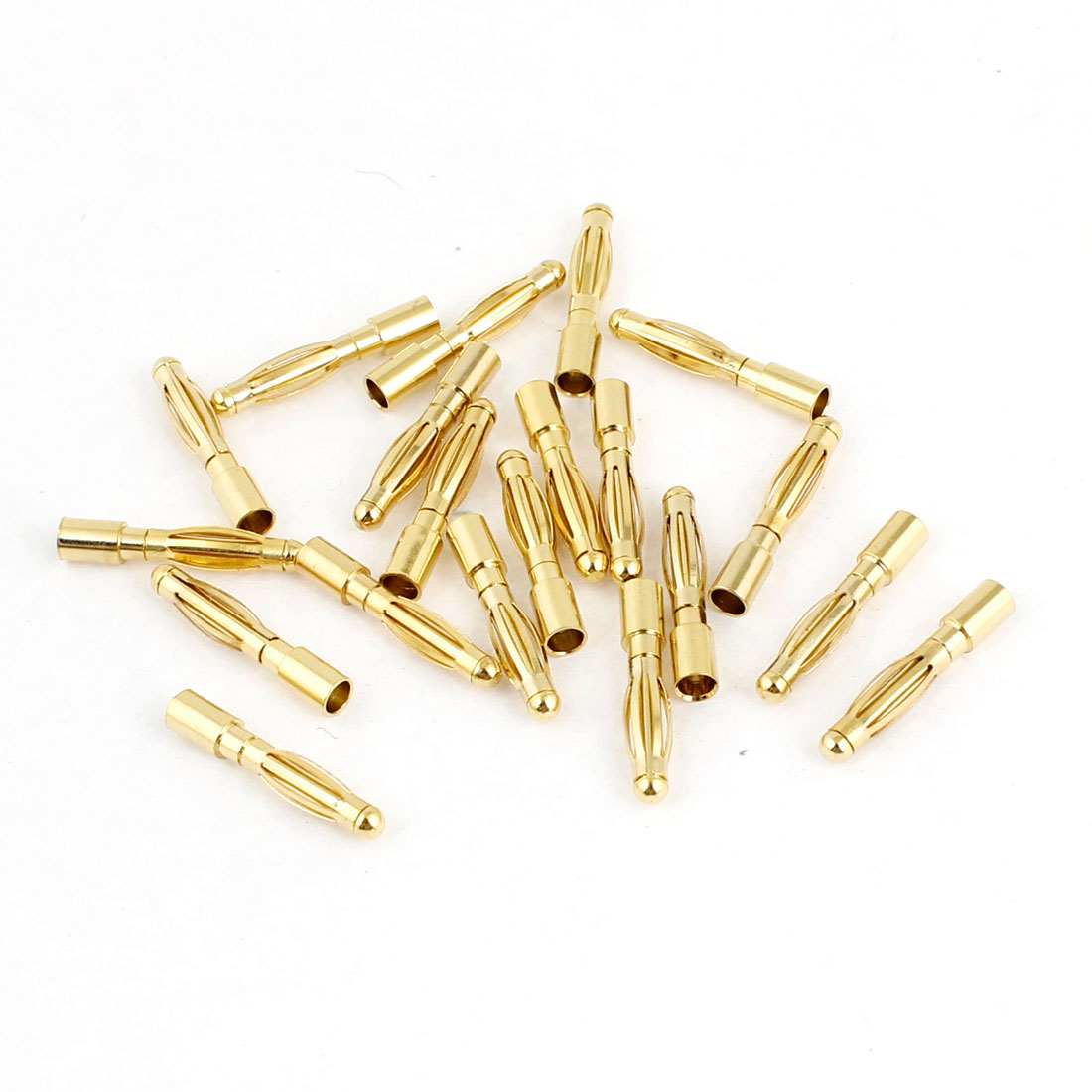 2mm Inner Diameter Male Banana Connector Replacement 20 Pcs
