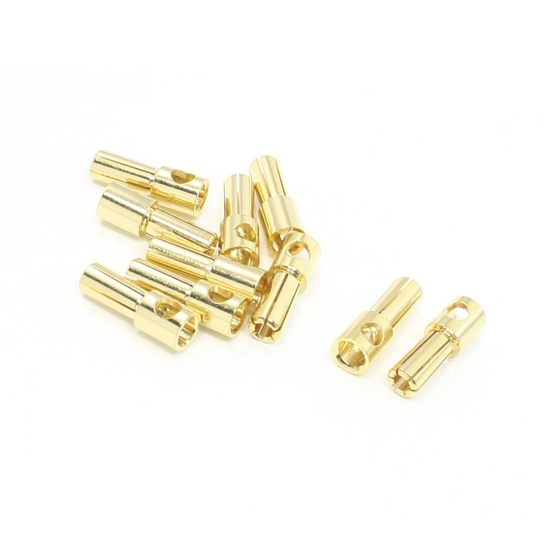 10pcs RC Model Li-Po Battery Male Banana Connector Plug 5mm Diameter