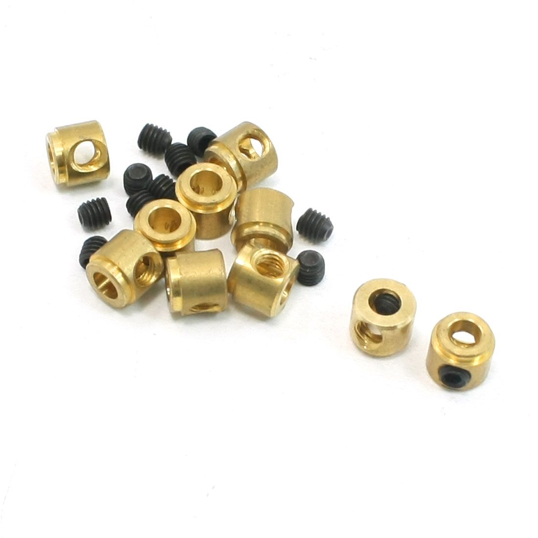 10 Pcs Gold Tone Brass Metal DIY RC Model Plane Block Parts