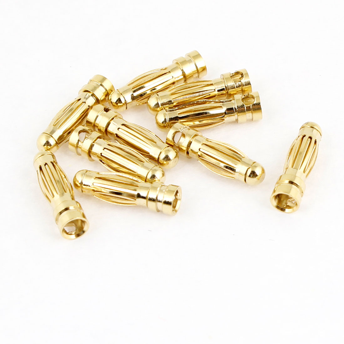 10 Pcs RC Model Li-Po Battery Male Banana Connector Plug 3mm Dia